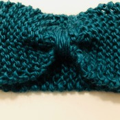 Turquoise/Blue Knitted Wool Handmade Hairband for Women