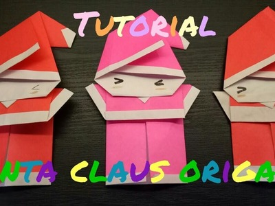Tutorial Belajar Seni Melipat Origami Santa Klaus (Cute Santa Claus Origami) - Origami for Fun