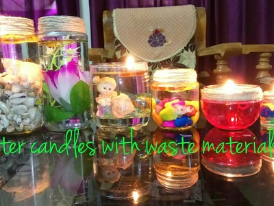 Water Candles from Mason Jars, (Waste Materials). .