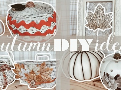 Autumn decor DIY ideas ~ THRIFTED baskets, fancy pumpkins & UO inspired candles ~ ivory ivi