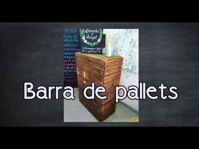 Barra -  Mostrador con Pallets -DIY