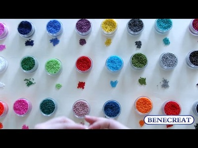 Benecreat 1 set 24 color 11.0 Round Glass Seed Beads Loose Beads Sets for Jewelry Making