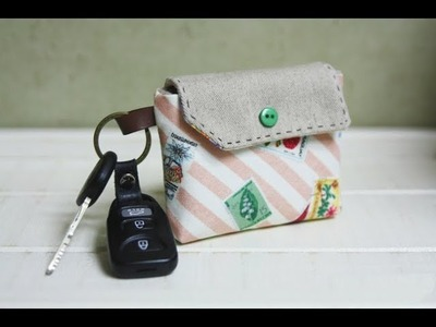 Card Holder Key Chain Tutorial Sewing step by step