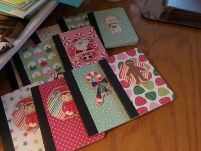 Craft Fair Idea: Mini Composition books for Guys and Kids