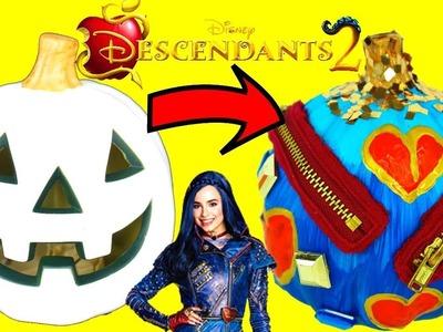 DESCENDANTS 2 EVIE Inspired HALLOWEEN Pumpkin DIY