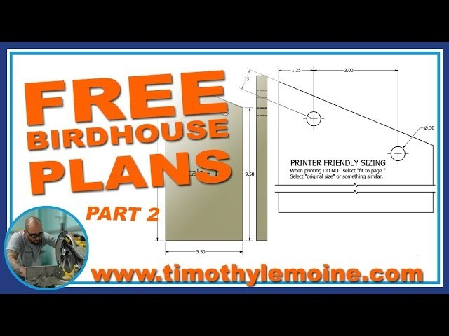 DIY Birdhouse - FREE Plans Part 2