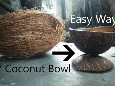 [DIY] Coconut Bowl | Easy | At Home | Hand Made Artwork