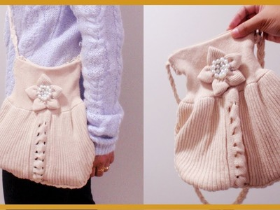 DIY Crossbody Purse From Old Sweater (Easy)