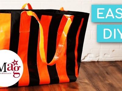 DIY Easy Duct Tape Halloween Trick-or-Treat Bag | OMaG | American Girl