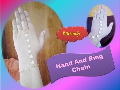 DIY Hand and Ring Chain. Bracelet. Just ₹30
