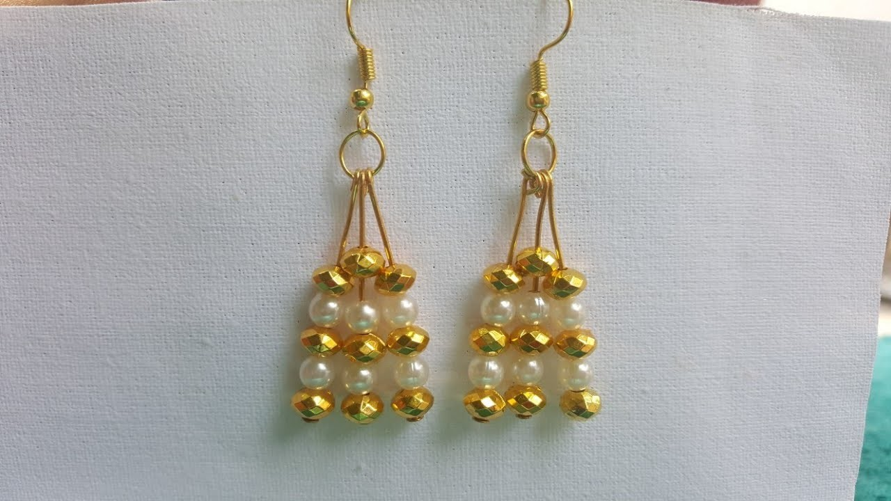 (DIY)HOW TO MAKE SIMPLE AND EASY EARRINGS IN JUST MINUTES.THE STUNNING HANDMADE'S.