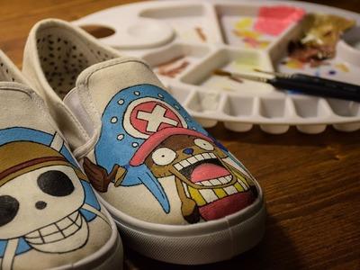 DIY One Piece | Tony Tony Chopper Custom Painted Shoes | Simone Manenti