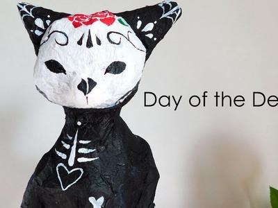 DIY Sugar Skull Kitty - Day of the Dead. EASY ♥