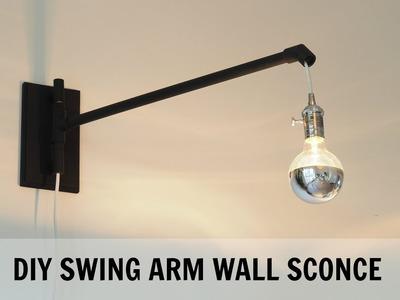 DIY Swing Arm Wall Sconce