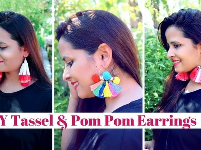 DIY Tassel Earrings | Pom Pom Earrings | 4 Easy ways |Festive Edition| Blushwithavi