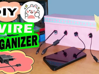 DIY Wire Organizer | How to make Charging Station with Shoebox