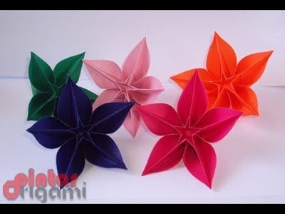 Flower Easy Step By Step Beautiful Carambola Flower Origami Easy