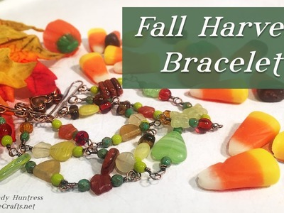 Fall Harvest Bracelet-Wrapped Loop Beaded Jewelry Tutorial