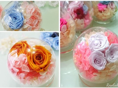 [GinDoodle] Super Easy! How to make a DIY Preserved Flower Cystall Ball
