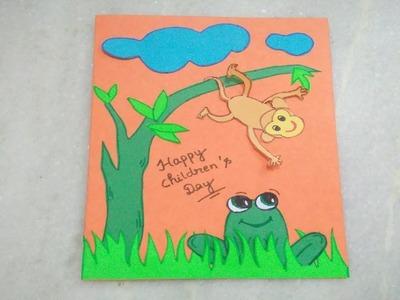 Handmade Children's Day Greeting Card |
