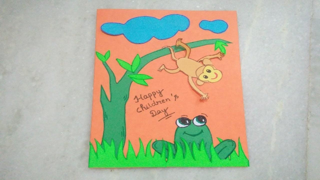 Handmade Children's Day Greeting Card  