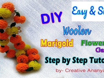 Handmade Marigold Garland | Festival Decorations | Step By Step Tutorial in Hindi