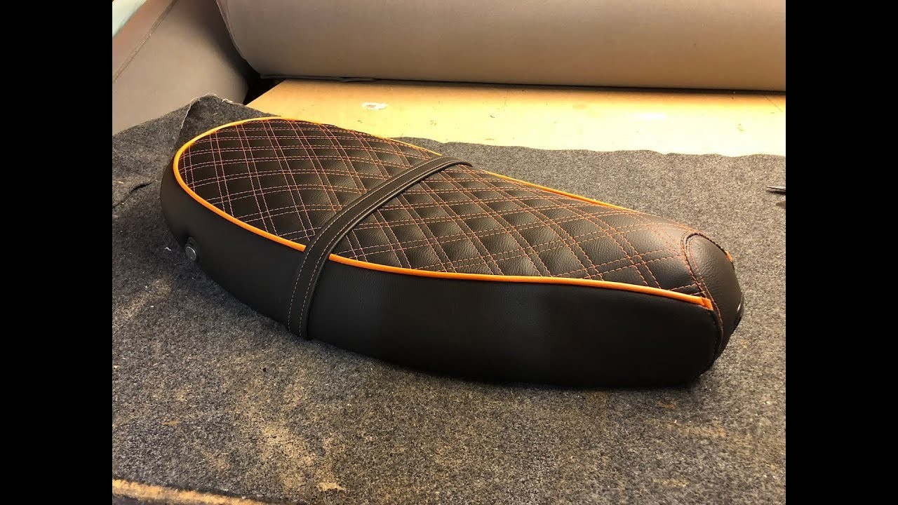 How to cover  motorcycle seat.
