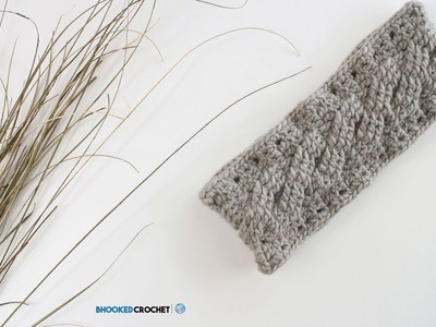 How to Crochet an Easy Cable Headband Left Handed