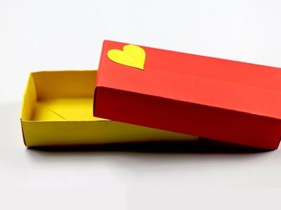 How to Make a Rectangular Origami Box - Easy Origami Rectangular Box Tutorial