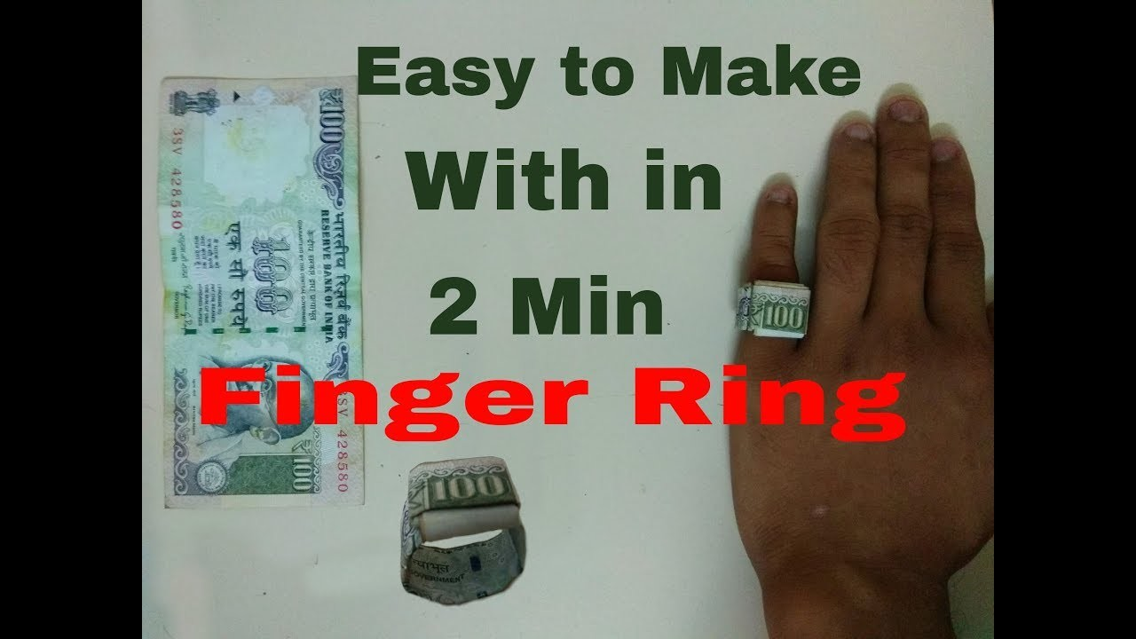 How to Make an Origami Dollar.Rupee Ring (Moneygami)