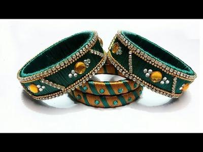 How to make bangles at home | silk bangles | diy