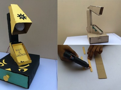 How to Make Multipurpose Study Lamp with cardboard #DIY