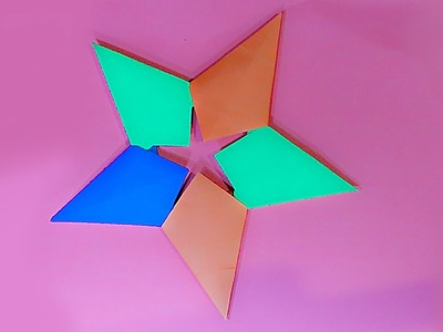 How to Make Origami Star with Color Paper. How to make simple & easy paper star?