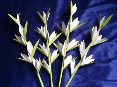 How to Make Paper Tuberose flower Very Easy !!!! Origami simple tuberose