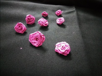 How to make perfect satin Rose    DIY realistic satin rose