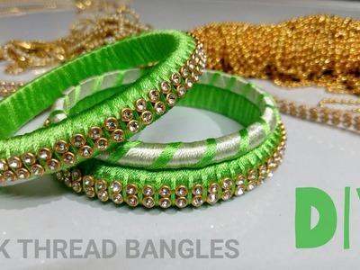 How To Make Silk Thread Bangles | Silk Thread Bangles DIY | DIY Bangles