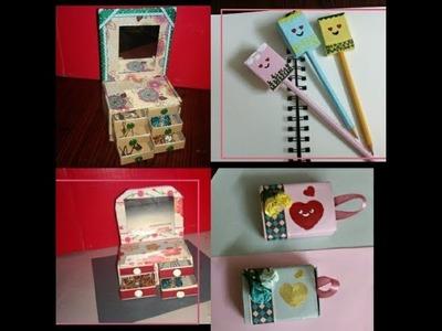 Little Ideas| (Surprise Box| Pencil Topper| Dressing Table)| DIY With Matchbox