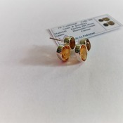 Natural Citrine Hessonite Garnet Gemstone Earrings in Gold Fill. November Birthstone Gift for Her