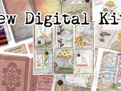 New digi kits. Halloween, vintage sewing & botanical | I'm A Cool Mom