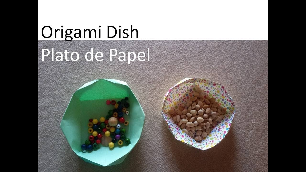 #Origami Dish. Bowl - Plato de Papel