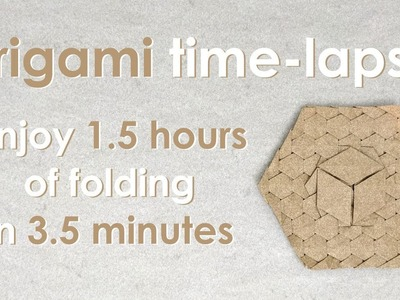 """Origami Time-Lapse: """"1-Cube Exercise"""" (Alessandro Beber)"""