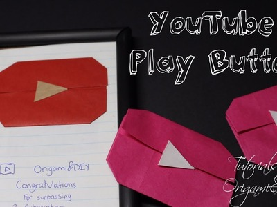 Origami: YouTube Play Button Easy and Fast) | Tutorial for beginners!