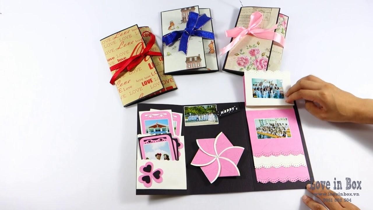 Scrapbook Flower Card Exploding Surprise Handmade Gift Love In Box
