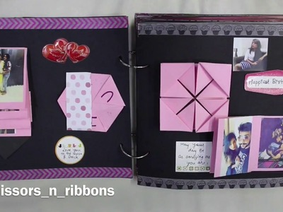 Scrapbook for Her | Birthday Scrapbook | Handmade Gift Ideas | Scissors and Ribbons