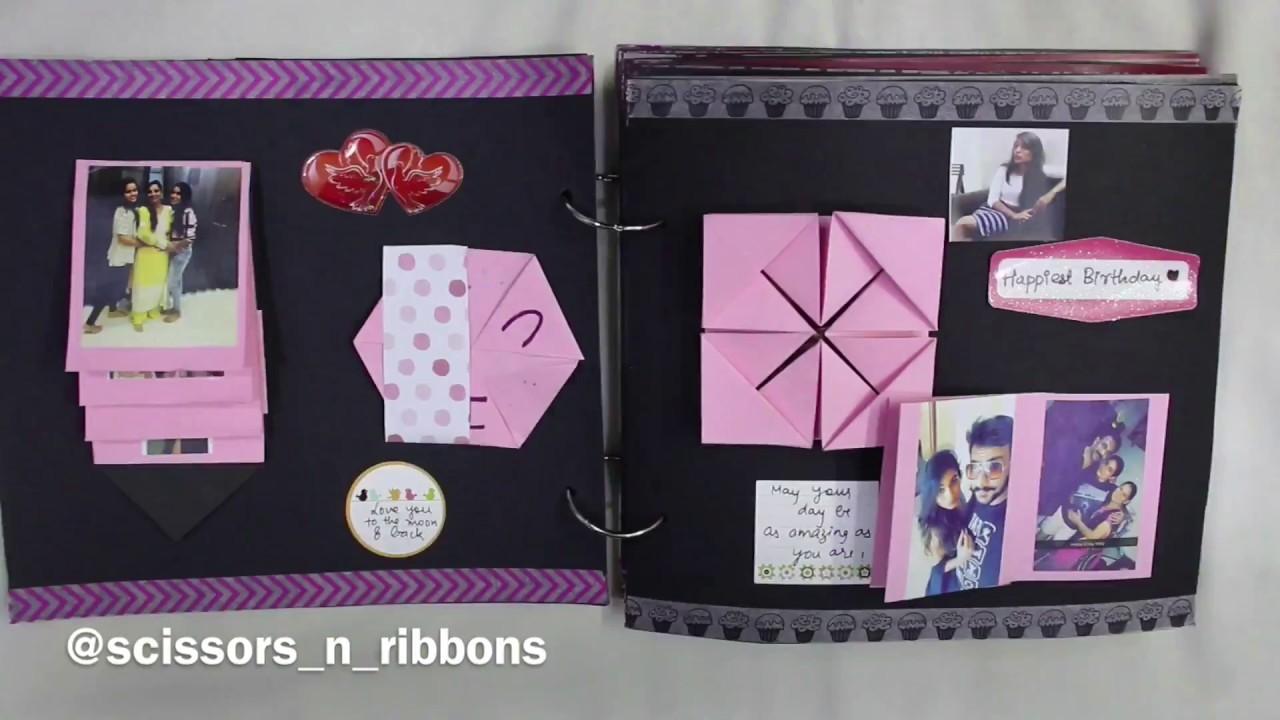 Scrapbook for Her   Birthday Scrapbook   Handmade Gift Ideas   Scissors and Ribbons