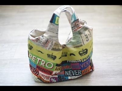 Shine Sewing Tutorial Fabric Bag Hobo DIY