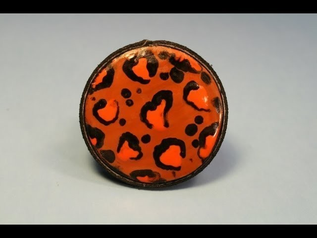 Twice melted Wax Jewelry Leopard Spot Design ~ Featuring ...