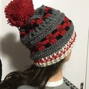 Unique Sock Monkey Plaid Slouchy Beanie