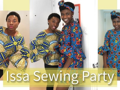 WE MADE EACH OTHER'S OUTFITS | ISSA SEWING PARTY W. SIMPLY COMFORT| KIM DAVE