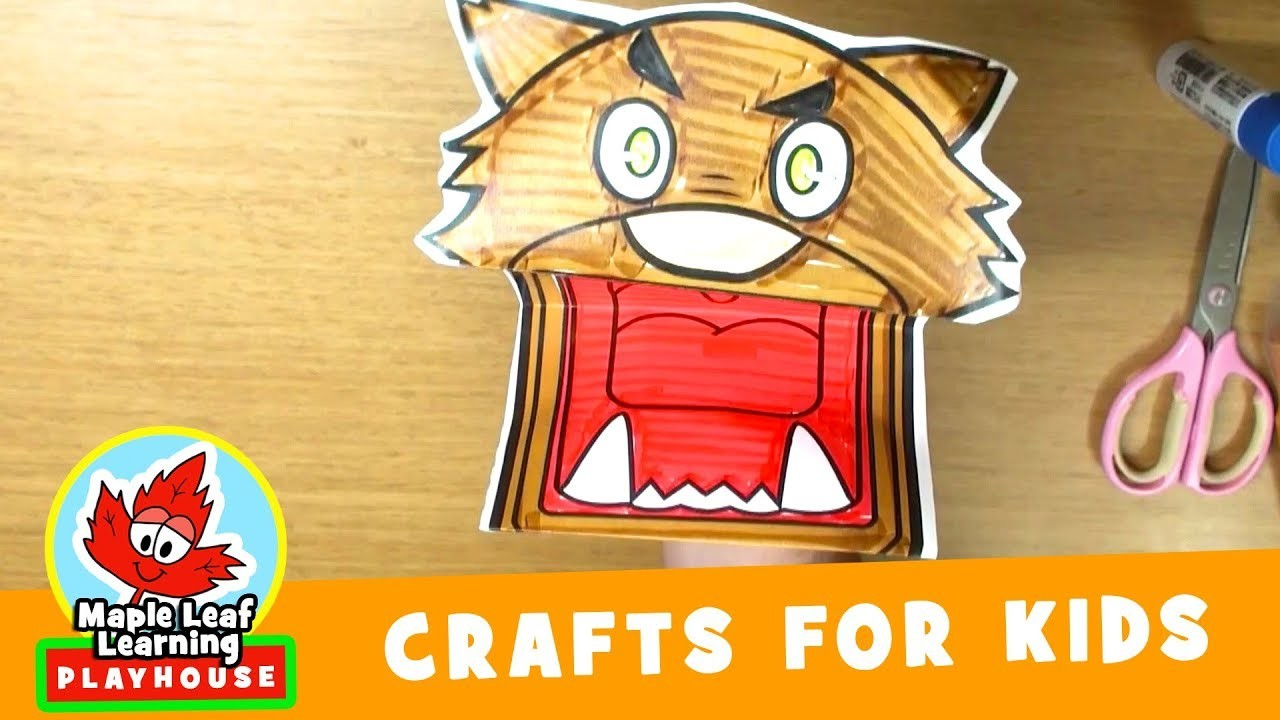 Werewolf Puppet Halloween Craft for Kids | Maple Leaf Learning Playhouse
